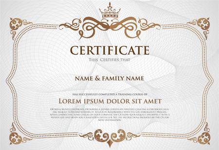 Certificate Design Template. Stock Illustratie