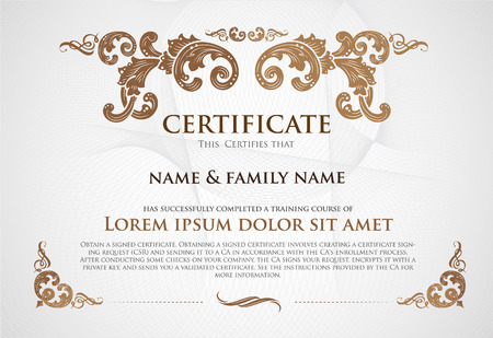 Certificate Design Template. Illustration