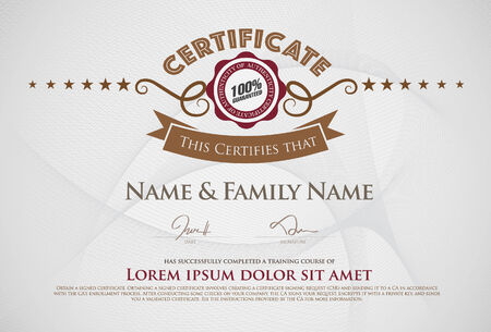 engravings: Vector illustration of gold detailed certificate
