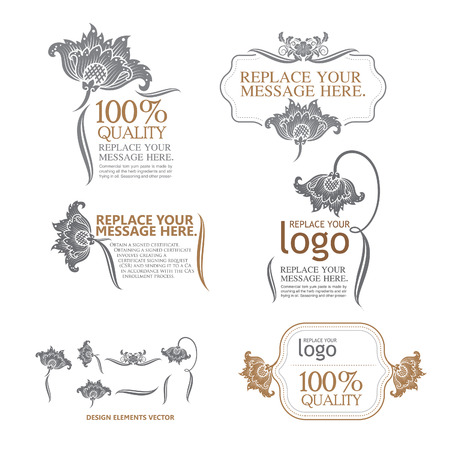 thai style: design elements and page decoration - lots of useful elements to embellish your layout Illustration