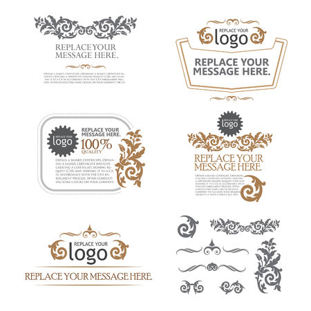 ornamental scroll: vector set: calligraphic design elements and page decoration - lots of useful elements to embellish your layout