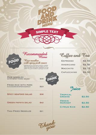Restaurant thai menu design - vector and illustrator. 向量圖像