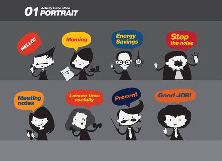 Set of web icons for business, finance and communication Vector