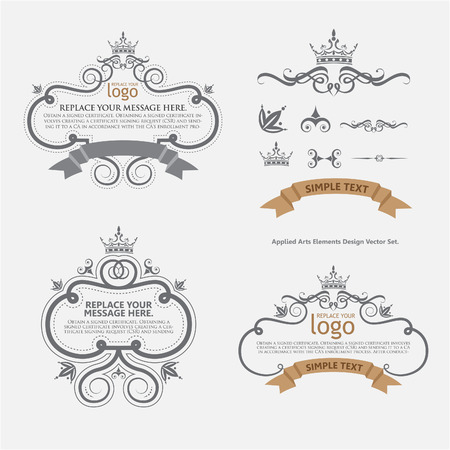 vintage document: vector set: calligraphic design elements and page decoration - lots of useful elements to embellish your layout