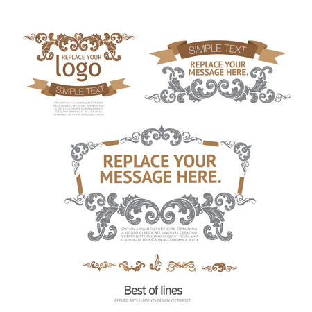 label tag: Set of vector stickers and ribbons.  Stock Vector Illustration: