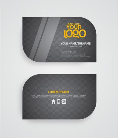 calling: Modern business card template. Illustration