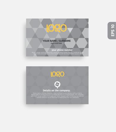 golde: Modern business card template. Illustration