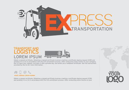 Transportation Brochure and leaflet  design template. Vector