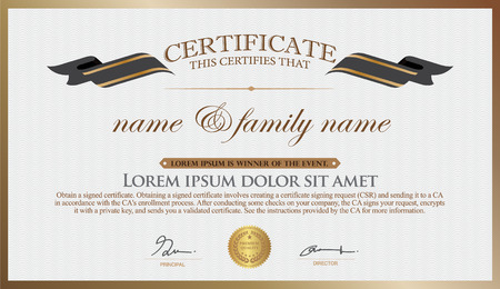 Certificate Design Template. Unique Patterned Thailand mixed with other designs . So as Pakalang for someone special. 向量圖像