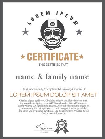 debenture stock: motorcycle  certificate.