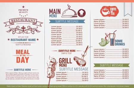 restaurant people: Restaurant menu design