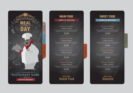 menu card design: menu template.