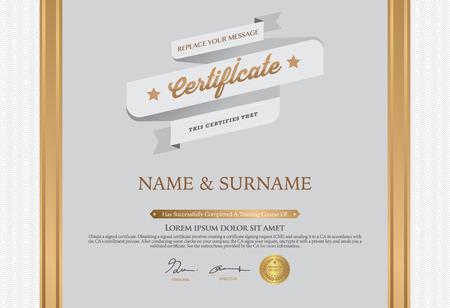 graduate asian: Certificate Design Template. Illustration
