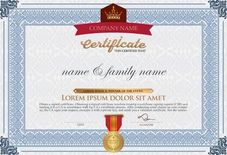 stock certificate: Vector certificate template-vector stock