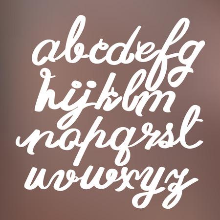 hand drawing alphabet, vector illustration Vector