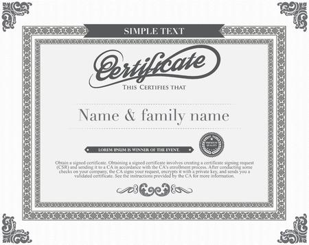 designs: Vector certificate template. Illustration