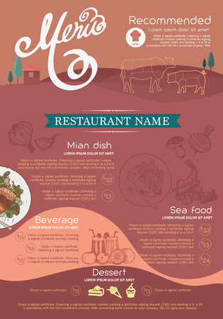 menu tool: menu and icon design restaurant.