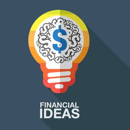 FINANCIAL IDEAS AND BUSINESS. Vector