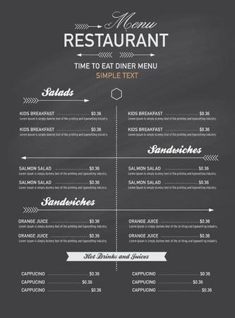 caf�: men� del ristorante in stile hippy. Vettoriali
