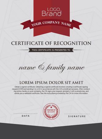 certificate template: Certificate Design Template. Illustration