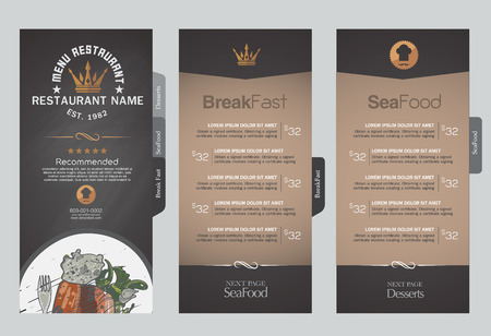 Menus are designed exquisitely beautiful, stylish and easy to use. 向量圖像