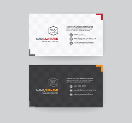 business  concepts: Modren business card template.