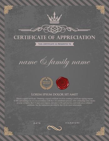 Certificate template.  イラスト・ベクター素材