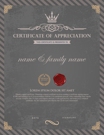 Certificate template. Vectores