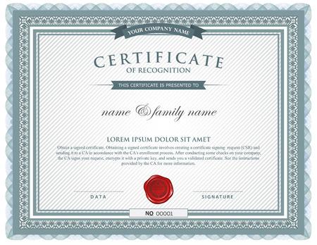 decoratif: modèle de certificat. Illustration