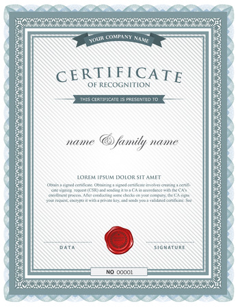 business degree: certificate template.