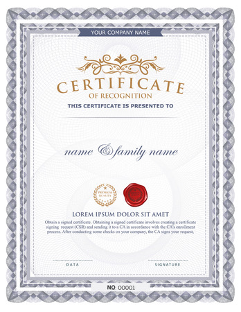 simple frame: certificate template