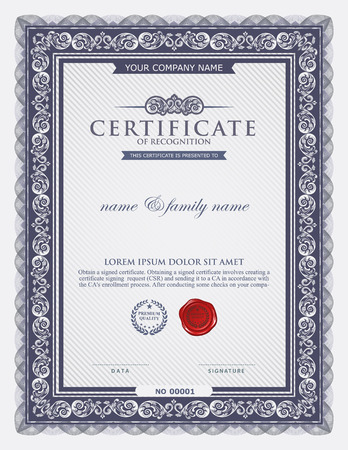 simple frame: certificate template.