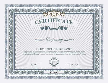 certificate  calligraphy: certificate template and element.