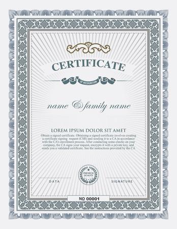 certificaatmalplaatje en element.