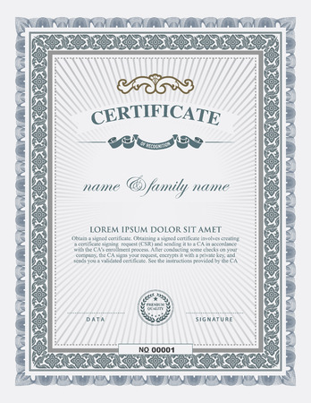 degree: certificate template and element.