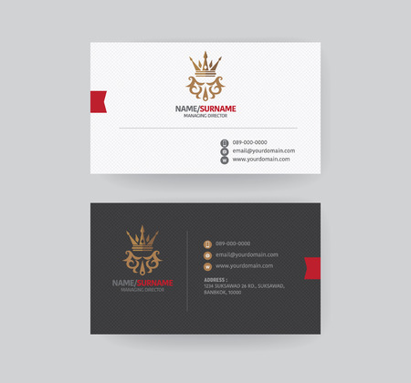 business concept: Modern business card template. Illustration