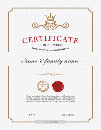 multipurpose: Certificate Design Template. Illustration