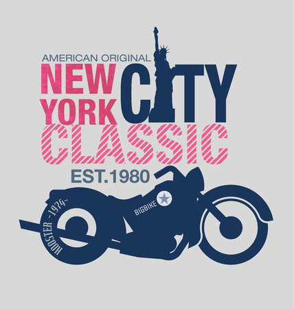west coast: typography design motor cycle classic Illustration