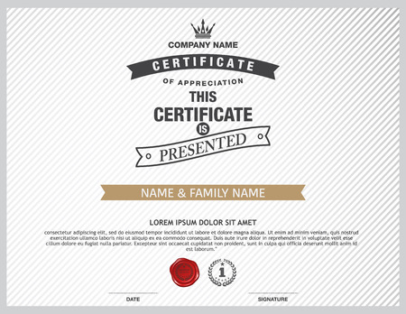simple border: certificate template.