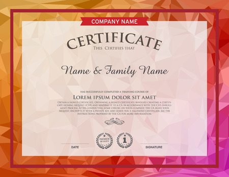 business degree: CERTIFICATE TEMPLATE Illustration