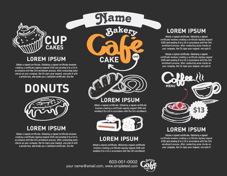 diner: Restaurant menu design.