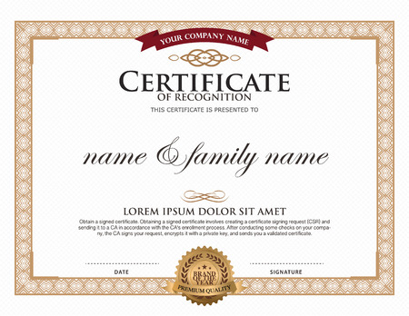 Certificate Template.  Degree Certificate Template