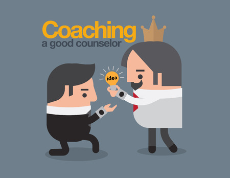 superviser: Coaching concept. id�e business caract�re. Illustration
