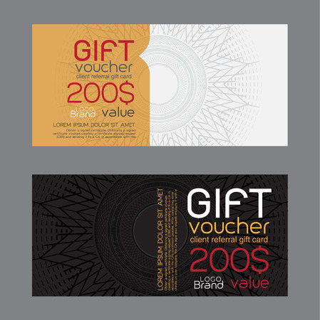 coupon: gift voucher template.