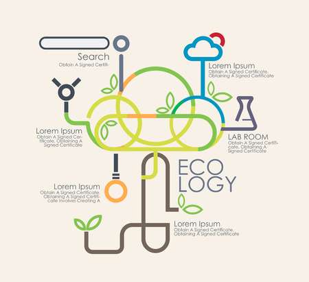 Business eco logy  and infographics.Vector illustrationayout, banner, diagram, web design template Vector