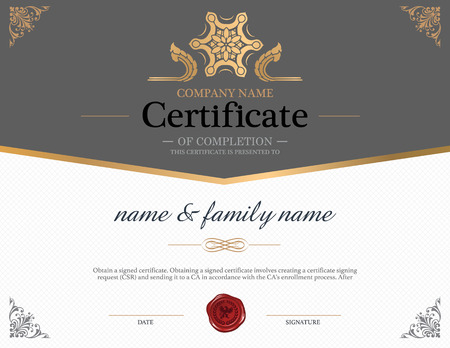 Certificate Design Template. Illustration