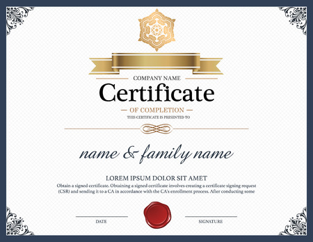 Certificate Design Template. Vectores