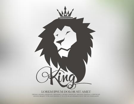 rey: s�mbolo le�n elementos de plantilla logo icono del dise�o Vectores