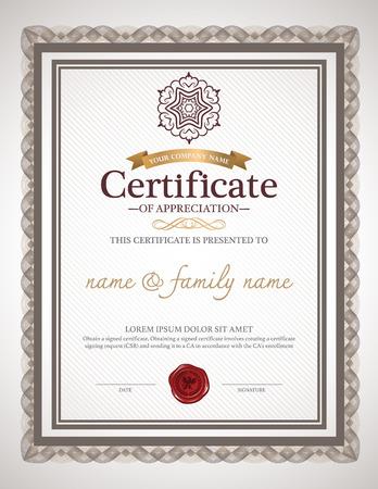business degree: certificate design template.