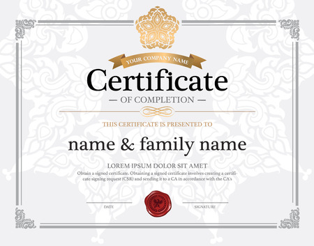 thai decor: certificate design template.